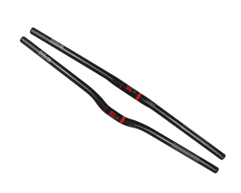 47d042c4bdf Amazon.com : Platt Bicycle Handlebar Carbon Fiber Lightweight Flat  Handlebars Riser Bars for Mountain Bike and Road Bikes, 25.4mm : Sports &  Outdoors