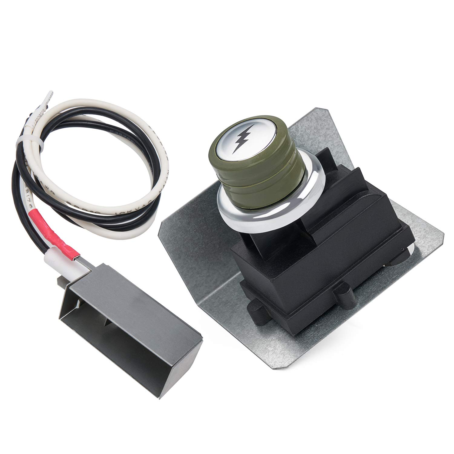 GASPRO 67726 Grill Igniter Kit Replacement for Weber Genesis 300 Grills (Year 2007) Genesis E/S-310 E/S-320 Ignitor Replacement Parts Ignition Module Metal Spark Box