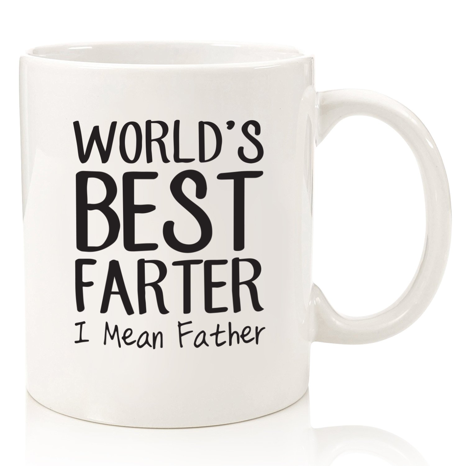 Fathers Day Gifts For Dad - World's Best F_rter / Father Funny Mug - Best Dad or Husband Gift - Gag Present Idea For Him From Son, Daughter, Wife - Unique Birthday Gift For Men, Guys - Fun Novelty Cup