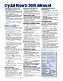 img - for Crystal Reports 2008 Advanced Quick Reference Guide (Cheat Sheet of Instructions, Tips & Shortcuts - Laminated Card) book / textbook / text book