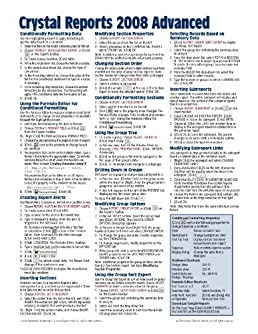 crystal reports 2008 advanced quick reference guide cheat sheet of rh amazon com crystal reports quick reference guide Reference Guide Template