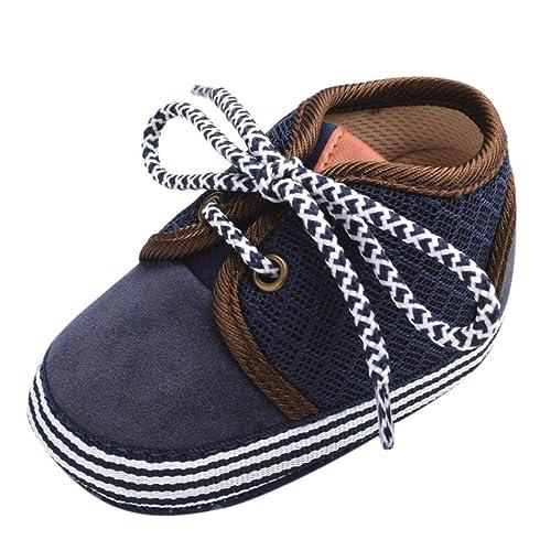 0a6b7e5ad01 Saingace Toddler Kids Baby Boys Girls Canvas Lace-up Anti-Slip Sneaker  Stylish Soft