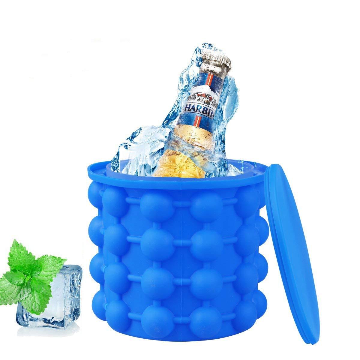 Aitsite Bac à Glaçon Ice Cube Maker Genie Irlde Ice Genie Silicone Moules Seau à Glace Ice Cube Navire