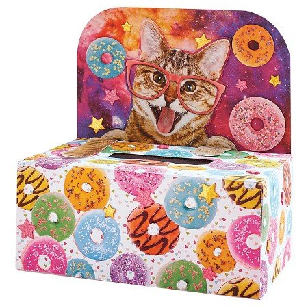 Valentine's Day Mailbox Decorating Kit Donut Space Cat