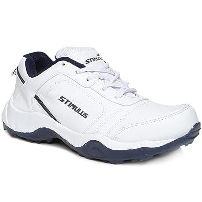 e4813dc5a PARAGON Stimulus Men s White   Blue Sports Shoes  Buy Online at Low ...