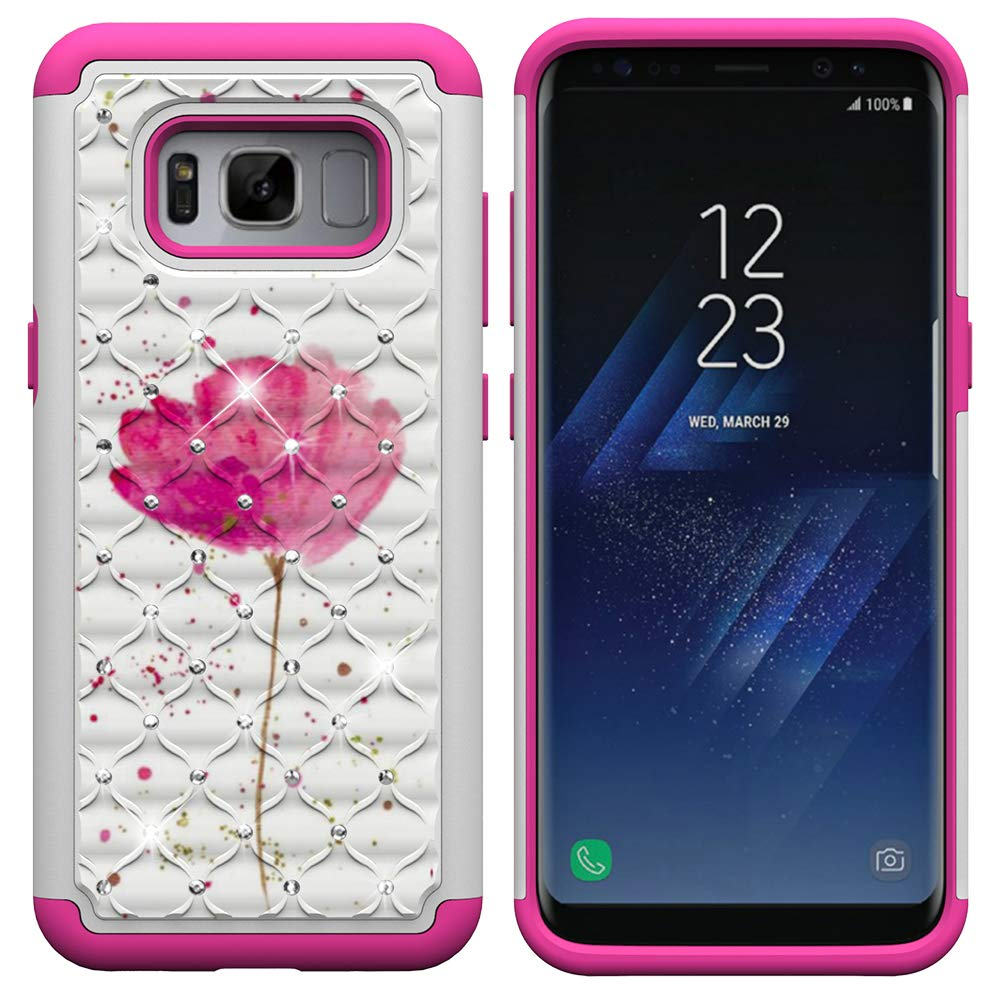 Carols Samsung Galaxy S8 Coque, Samsung Galaxy S8 Coque 2en1 Impact Hybride Antichoc en Silicone Dur PC Housse É tui de Protection pour Samsung Galaxy S8 (5,8 Zoll) - Vert LXM-46517