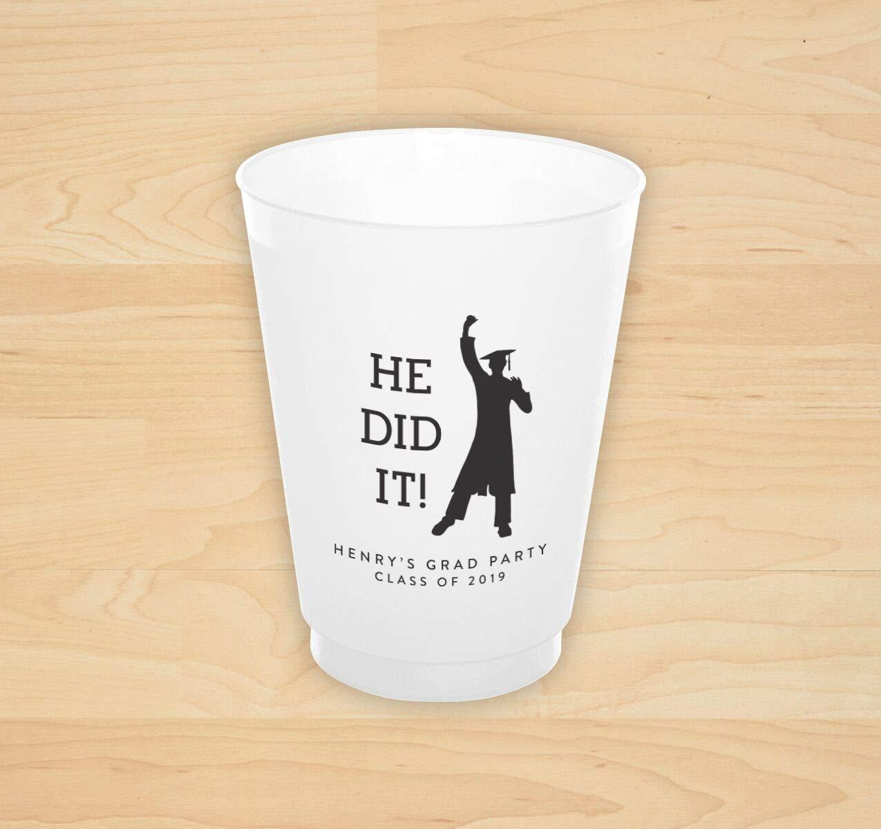 He Did It! Grad Cup - Set of 50-4172