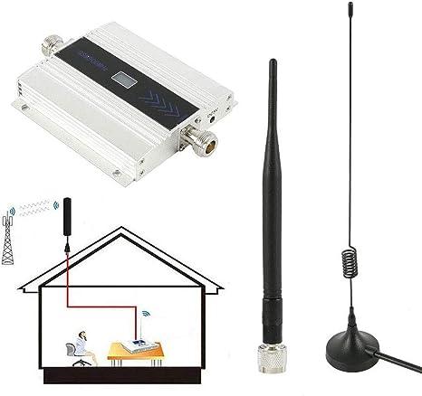 C&JQ gsm 900Mhz Amplificador de Señal de Teléfono Movil,Amplificador de Cobertura Movil Interior Repetidores de Señal de Móviles Facil de ...