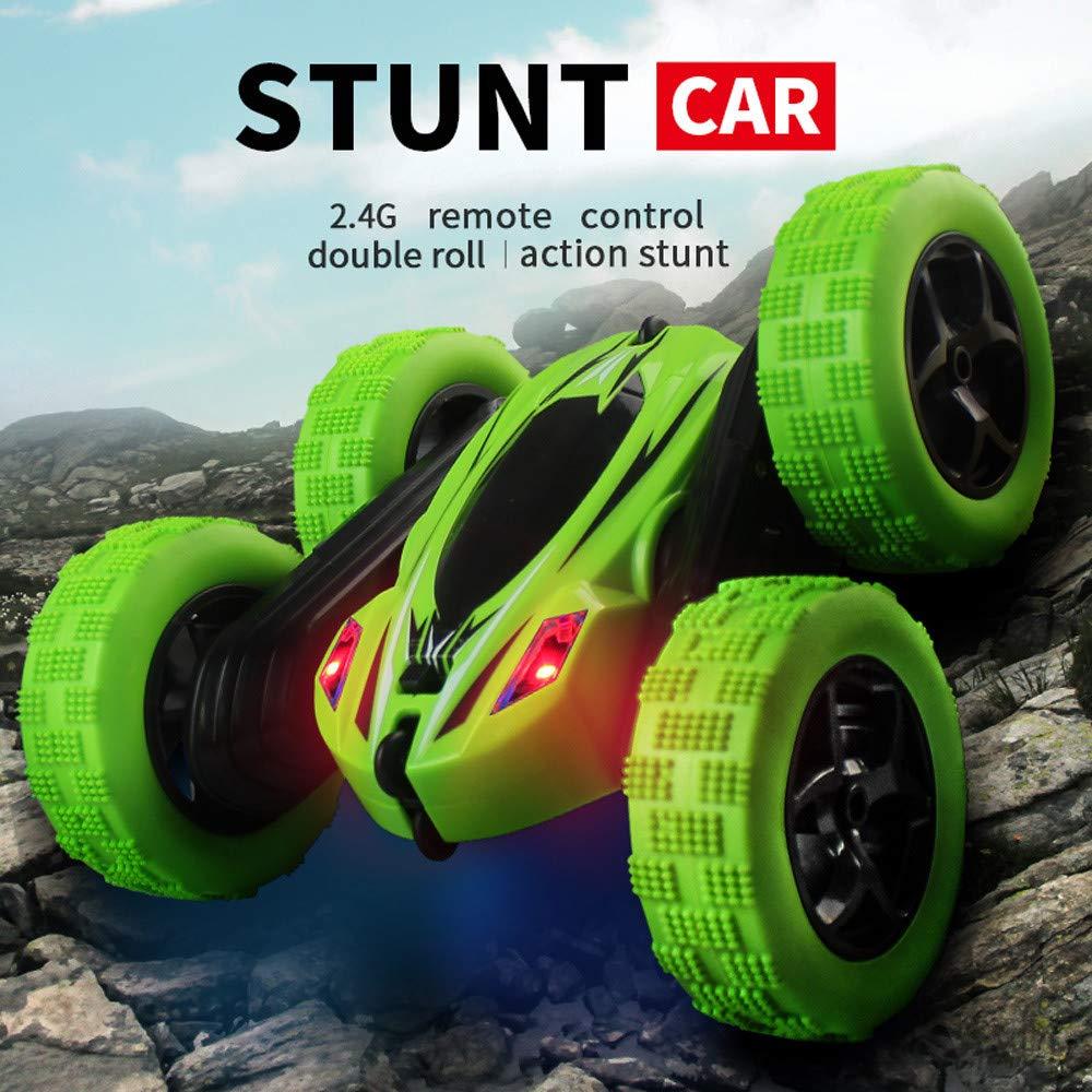 Aobiny 子供用リモートコントロールカー 360度回転スタントカーモデル RC 4WD 高速リモートコントロール オフロードトイ グリーン le B07JM5N747 グリーン
