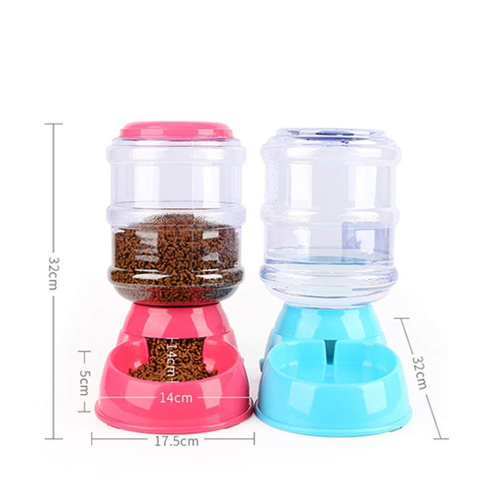 Jutao Pet Feeder and Waterer, Automatic Self- dispenser Food Feeder Gravity Drinking Fountains 1 Gallon/2.2lbs/ 3.5L for Dog and Cat (Waterer)