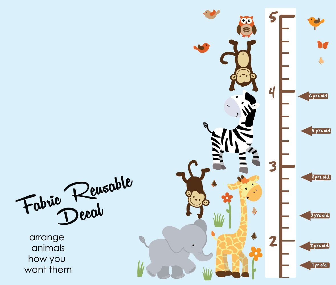 Amazon Safari Pride Jungle Growth Chart Wall Decals Jungle
