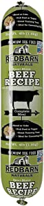 Redbarn 4lb Beef Recipe Rolled Food | Natural Ingredients with Added Vitamins & Minerals - Shelf Stable Food, Topper or Training Reward | Made in USA (Pack of 2)