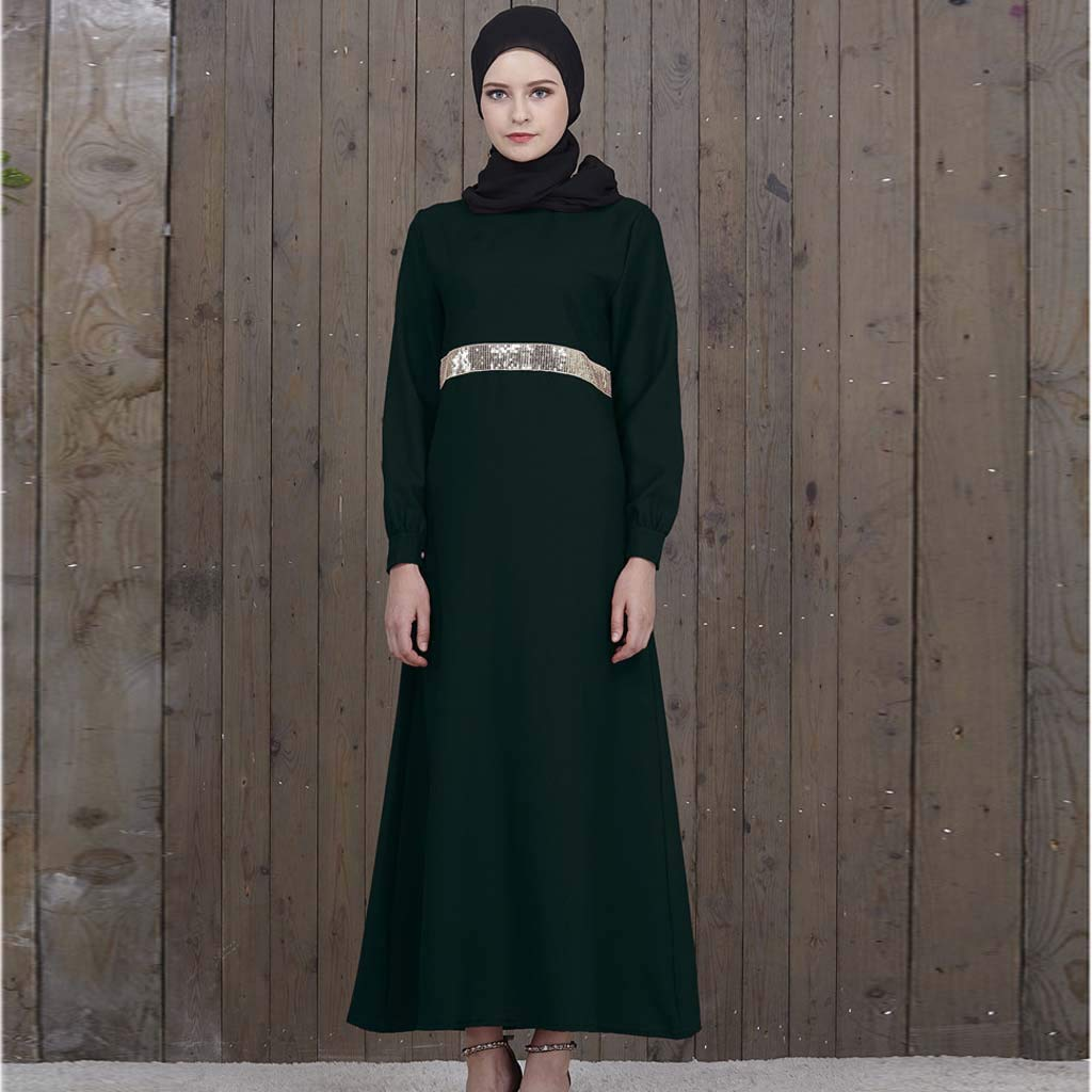22e0d77a28f0 Amazon.com  Goldweather Women Muslim Kaftan Dresses Ladies Summer Abaya  Islami Turkish Long Gown Maxi Dresses  Clothing