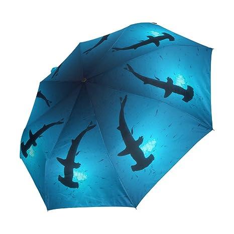 YZGO Outer Black Umbrella Painting Artwork Van Goghs Starry Night UV Anti Lightweight Parasol Elegant Reverse