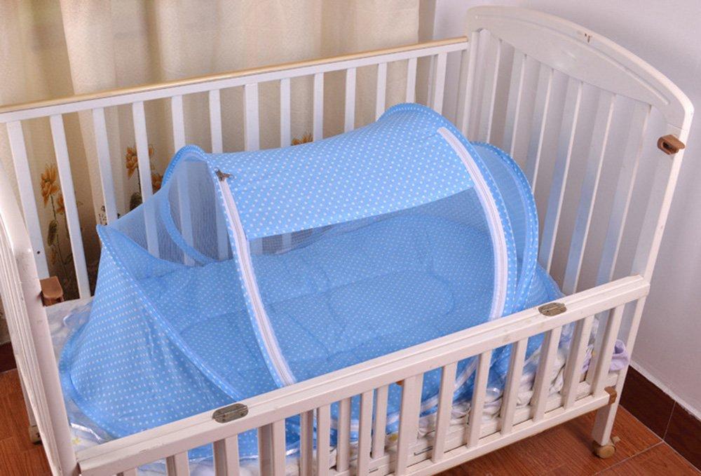 Portable Folding Baby Reisebett Kinderbett Babybetten Neugeboren Faltbare Krippe LZYMSZ Sommer Moskitonetz f/ür Kinder BLUE
