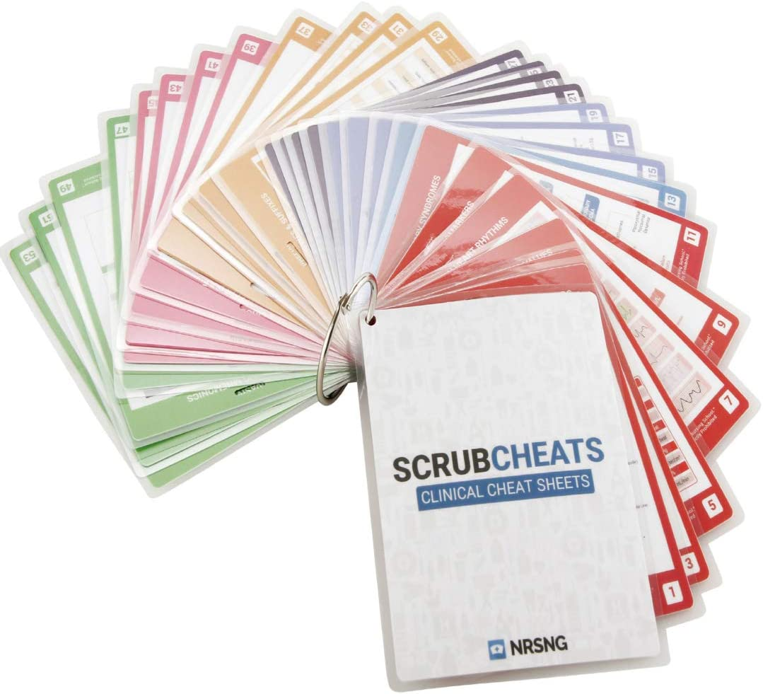 NRSNG Scrubcheats Nursing Reference Cards Review