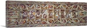 ARTCANVAS Sistine Chapel Ceiling 1512 Canvas Art Print by Michelangelo - 36