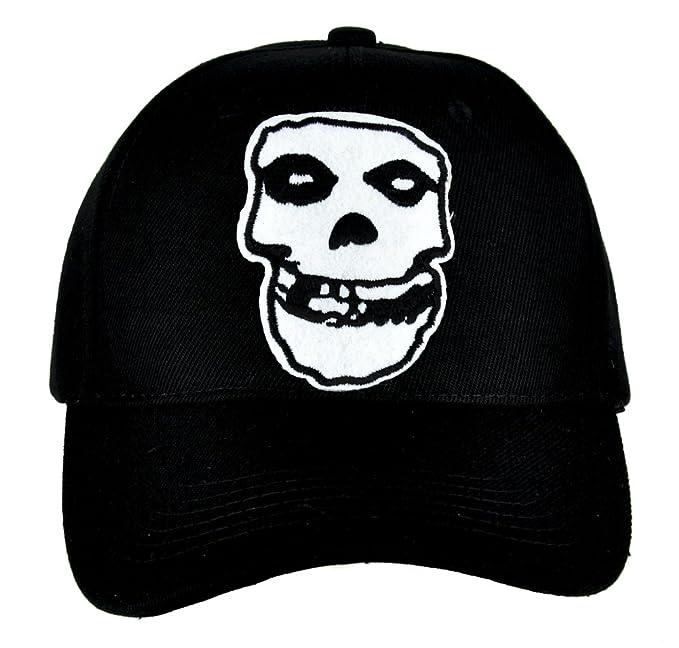 601f7a178ad Amazon.com  Horror Punk Rock Misfits Skull Hat Baseball Cap Goth ...