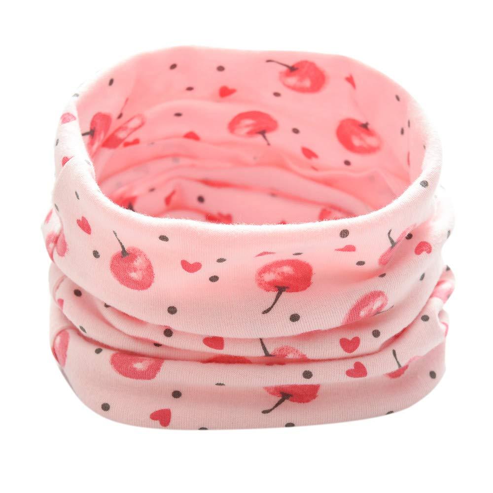 Doing1 Baby Loop Schal viele Farben Muster Schlauchschal Halstuch in aktuellen Trendfarben Baby Schals Kinder Schals Loopschal Baumwollschal Halstücher Unisex Halstuch, 0-3 Jahre 0-3 Jahre (Rosa)