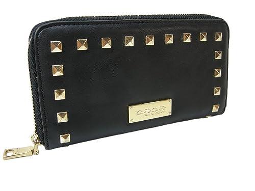 c306ec49ce New BEBE Logo Jane Zip Around Wallet Purse Hand Bag Black Gold Studs:  Amazon.ca: Shoes & Handbags