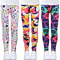 KSK KAISHEK Little Girls Stretch Leggings Cute Print Kids Toddler Tights Pants