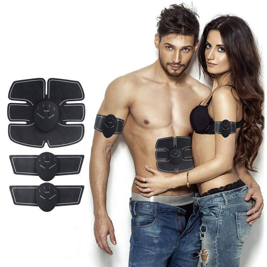 EMS smart muscle stimulation trainer, six pack abs trainer belly belt USB rechargeable muscle toner for abdominal legs