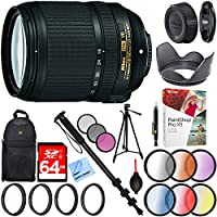 Nikon 18-140mm f/3.5-5.6G ED AF-S VR DX Nikkor Lens (2213) with 67mm UV, Polarizer, FLD, Close-Up, and Graduated Color Filter Sets Plus Pro Monopod and Tripod Bundle
