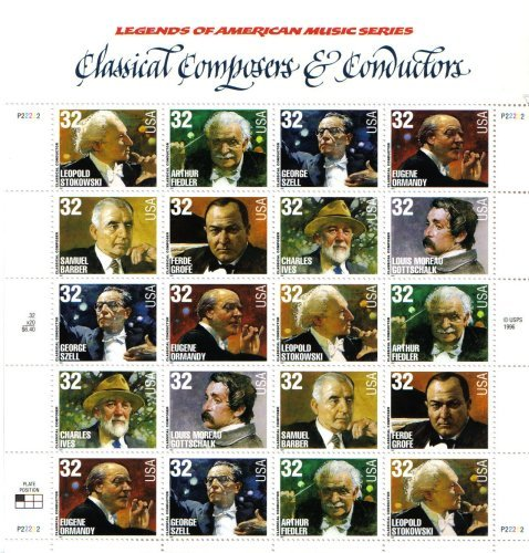 Classical Conductor - Classical Composers and Conductors 20 x 32 Cent U.S. Postage Stamps
