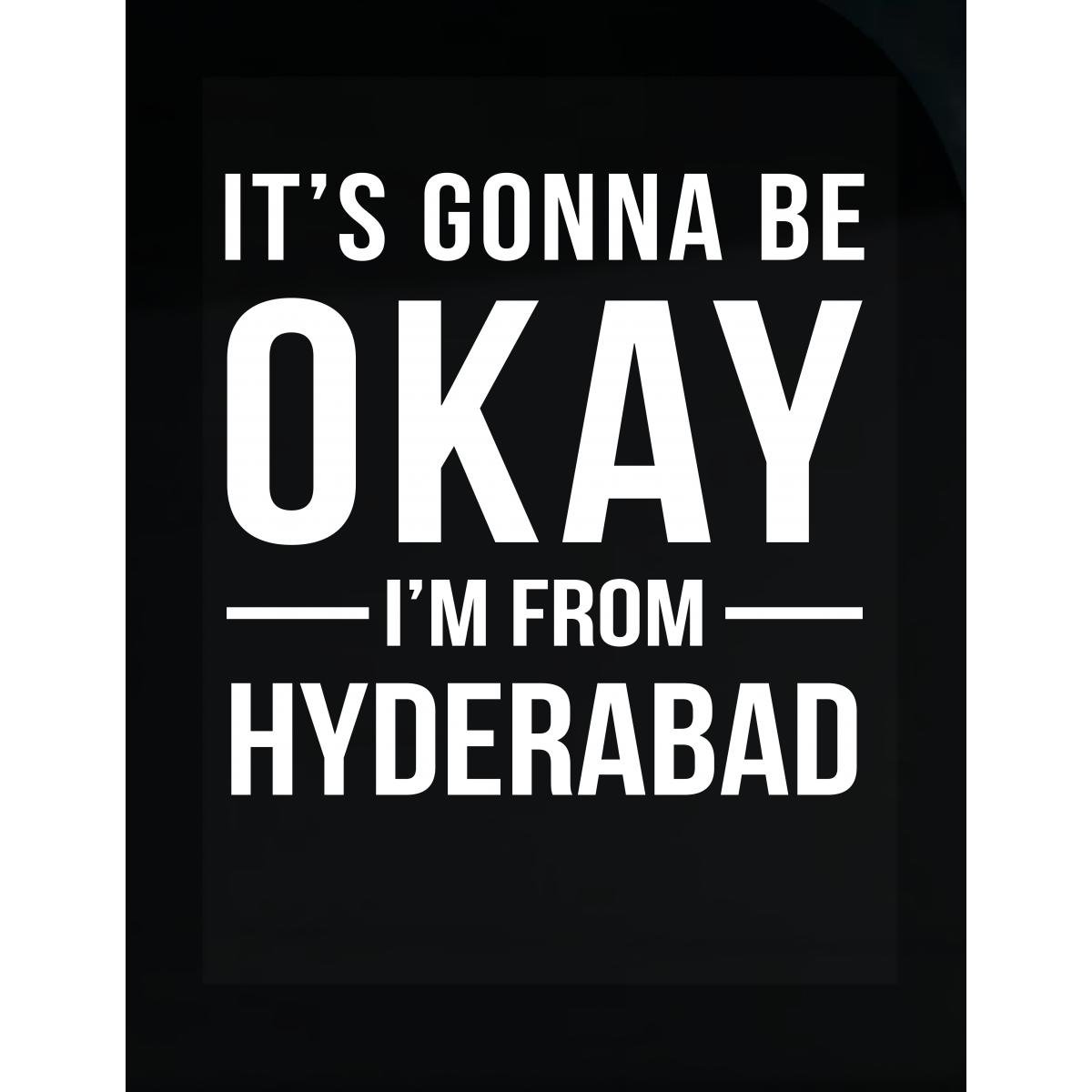 Amazon com inked creatively its gonna be okay im from hyderabad city sticker home kitchen