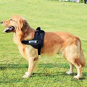 Dog Harness Large,RIOGOO K8 Upgraded Version Reflective Dog Vest Harness with Soft Padded Adjustable Chest Strap (XL)