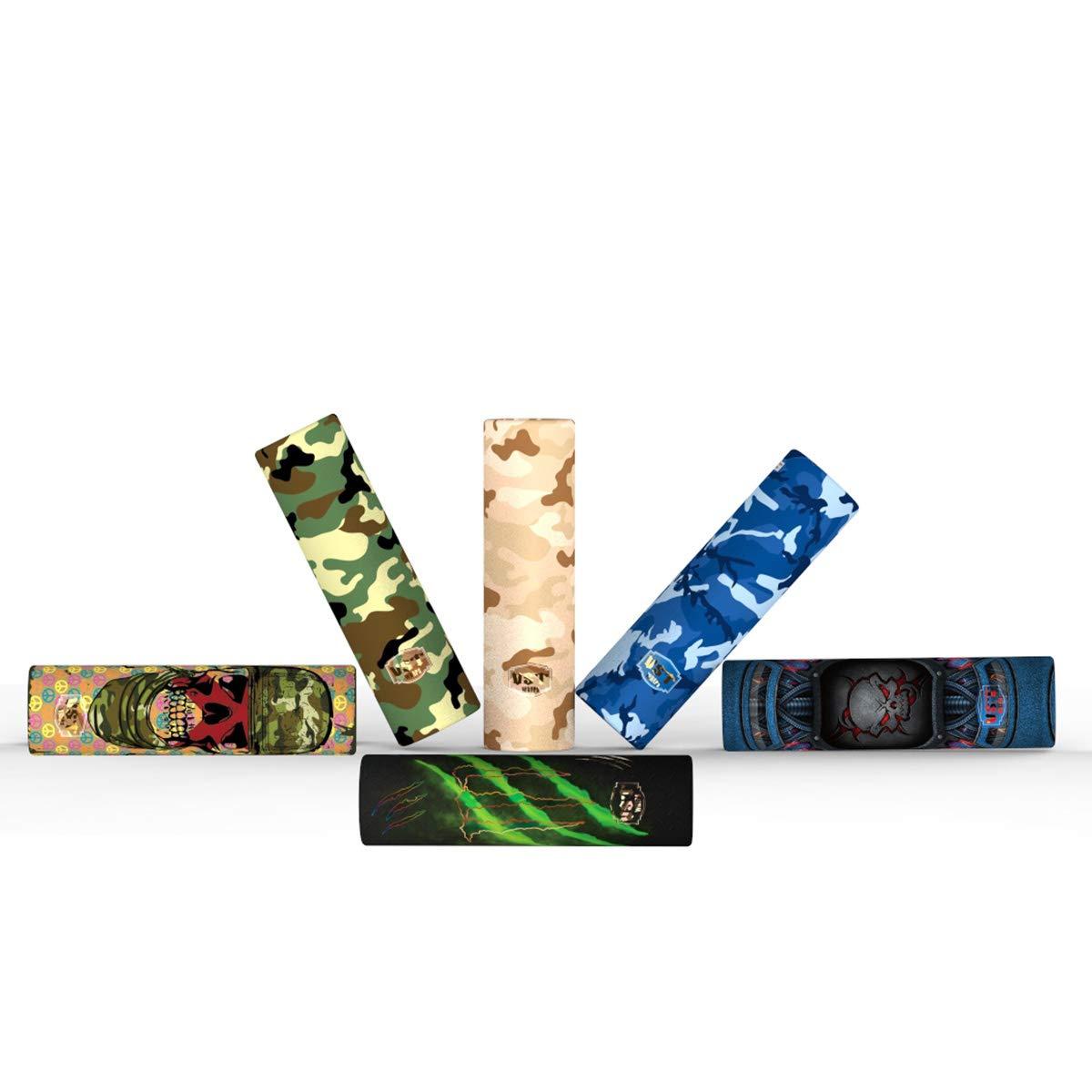 6 Styles Cover Skin 24PCS Pre Cut 20700 Batterie Wraps Tubes de tubes PVC thermor/étractables pour 20700 Protective Battery Sleeve Shrink Film Replacement
