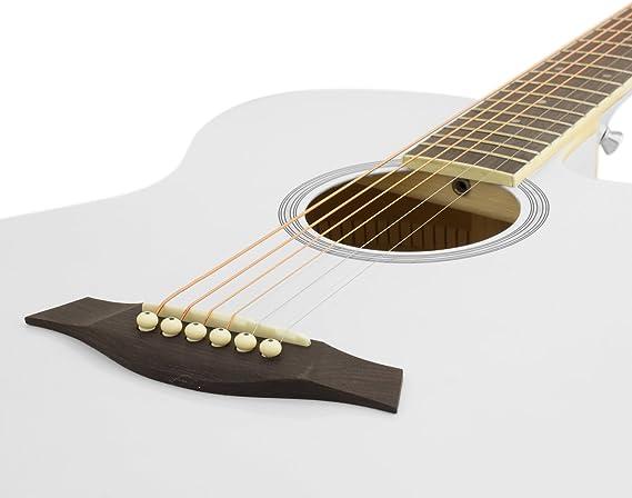 Tiger ACG4-WH - Guitarra electroacústica, color blanco: Amazon.es ...