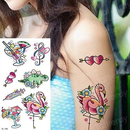 Handaxian 3 Piezas Tatuaje Pegatina Cuerpo Flor Mujer niña ...