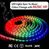 Tools & Hardware : LED Strip Lights LED Lights Sync To Music 16.4Ft/5M LED Light Strip 300 LED Lights SMD 5050 Waterproof Flexible RGB Strip Lights IR Controller+12V 3A Power By DotStone