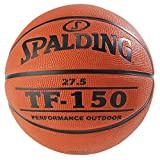 "Spalding 73761CA TF-150 Rubber Basketball, Size 5/27.5"", Brown"