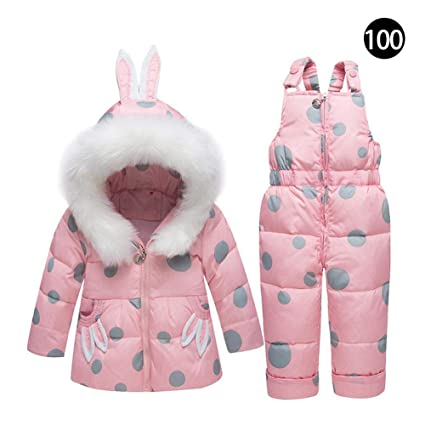 51e539d1b16f Comaie unisex baby two piece down suit winter warm snowsuit jacket ...