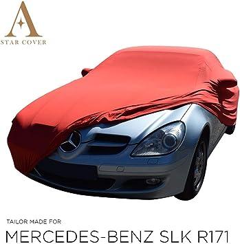 Autoabdeckung Rot Passend FÜr Mercedes Benz Slk Class R171 Mit Spiegeltaschen Ganzgarage Innen SchutzhÜlle Abdeckplane Schutzdecke Cover Auto