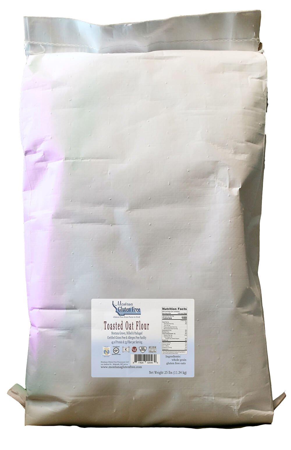 Montana Gluten Free Toasted Oat Flour, 25 Pound