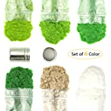 MAY.T 6 Packs of 3MM 50g Model Static Grass Powder Fake Grass for Miniature Terrain Landscape DIY Artificial Sand Table…