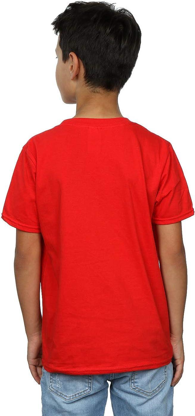 STAR WARS Boys Christmas Logo T-Shirt 7-8 Years Red