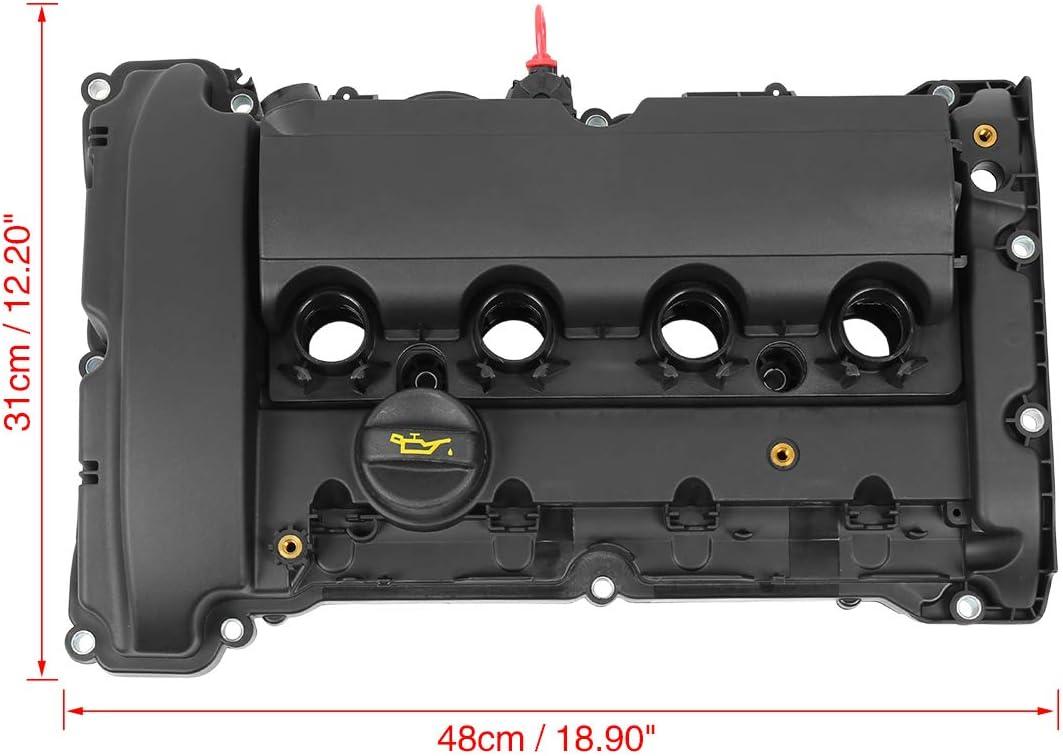 X AUTOHAUX Car Camshaft Engine Valve Cover Set 11127646555 for 2007-2008 Mini Cooper S JCW R55 R56 R57 R58 R59