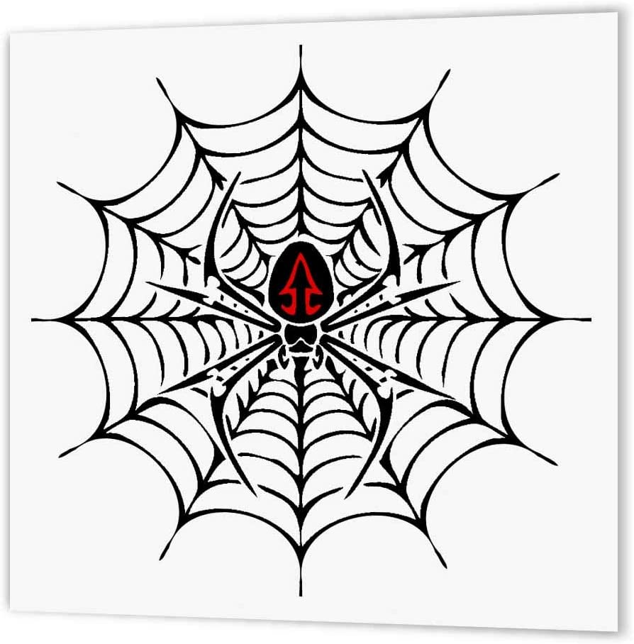 Amazon Com 3drose Ht 58923 3 Black Widow Spider In A Web Iron On Heat Transfer Paper For White Material 10 By 10 Inch