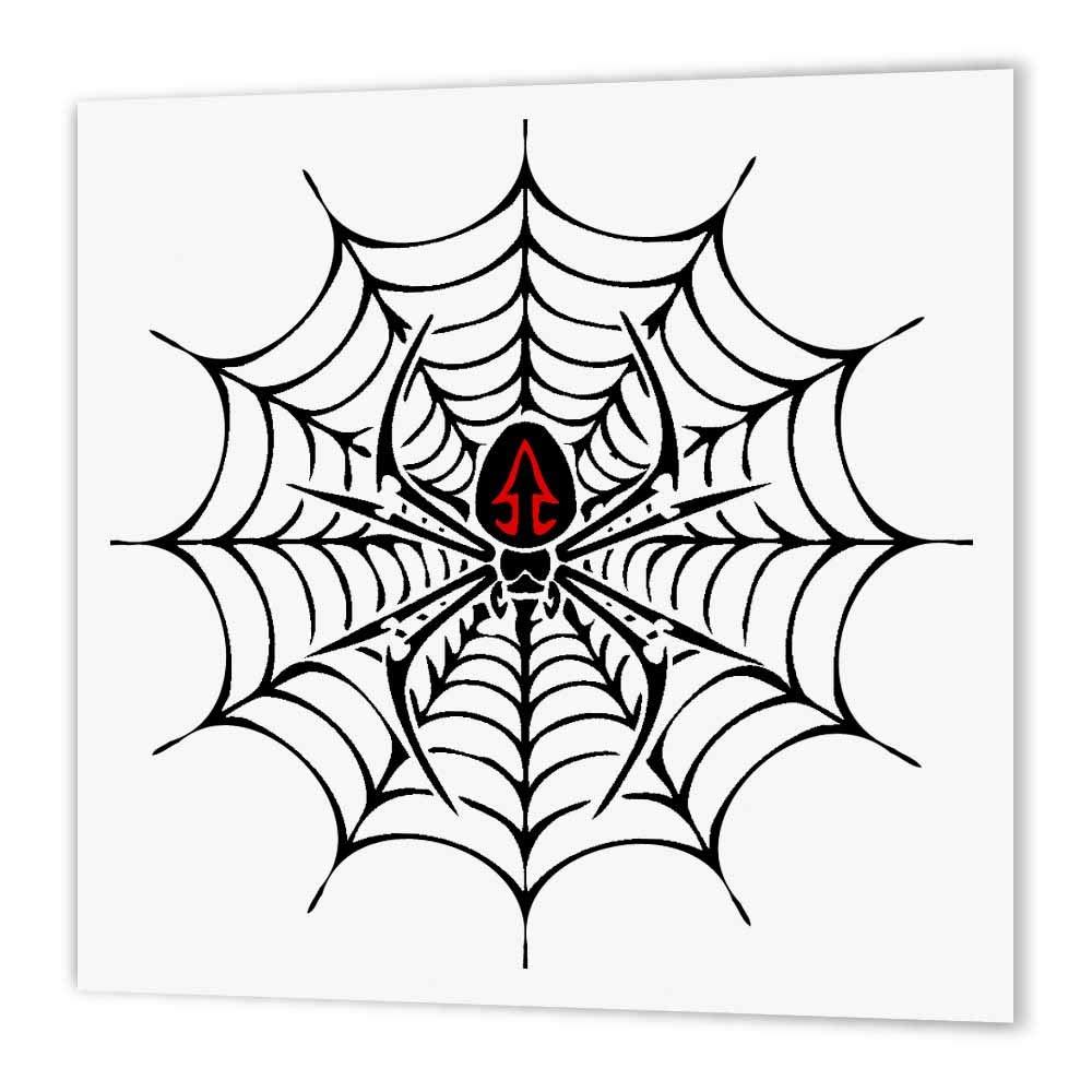 Amazon Com 3drose Ht 58923 3 Black Widow Spider In A Web