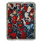 Marvel Deadpool,We are All Here Woven Tapestry Throw Blanket, 48'' x 60'', Multi