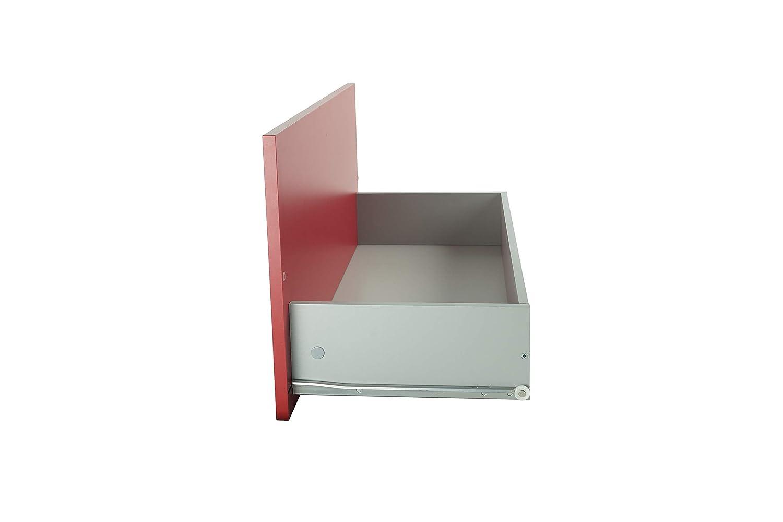 DIY Ideas Kit cassetto con ripiano per mensola 362x727x300 mm Antracite cassetto per comodino cassettone in legno per mobile