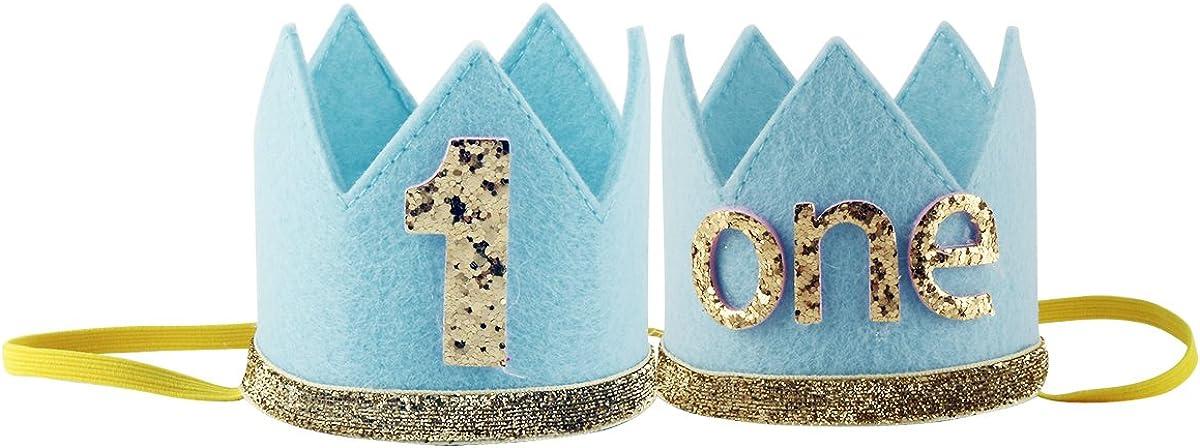 Freebily Baby Geburtstagskrone 1.Geburtstags Hut Gl/änzend f/ür Infant Junge M/ädchen Geburtstagsdeko zu Geburtstag Party Fotografie