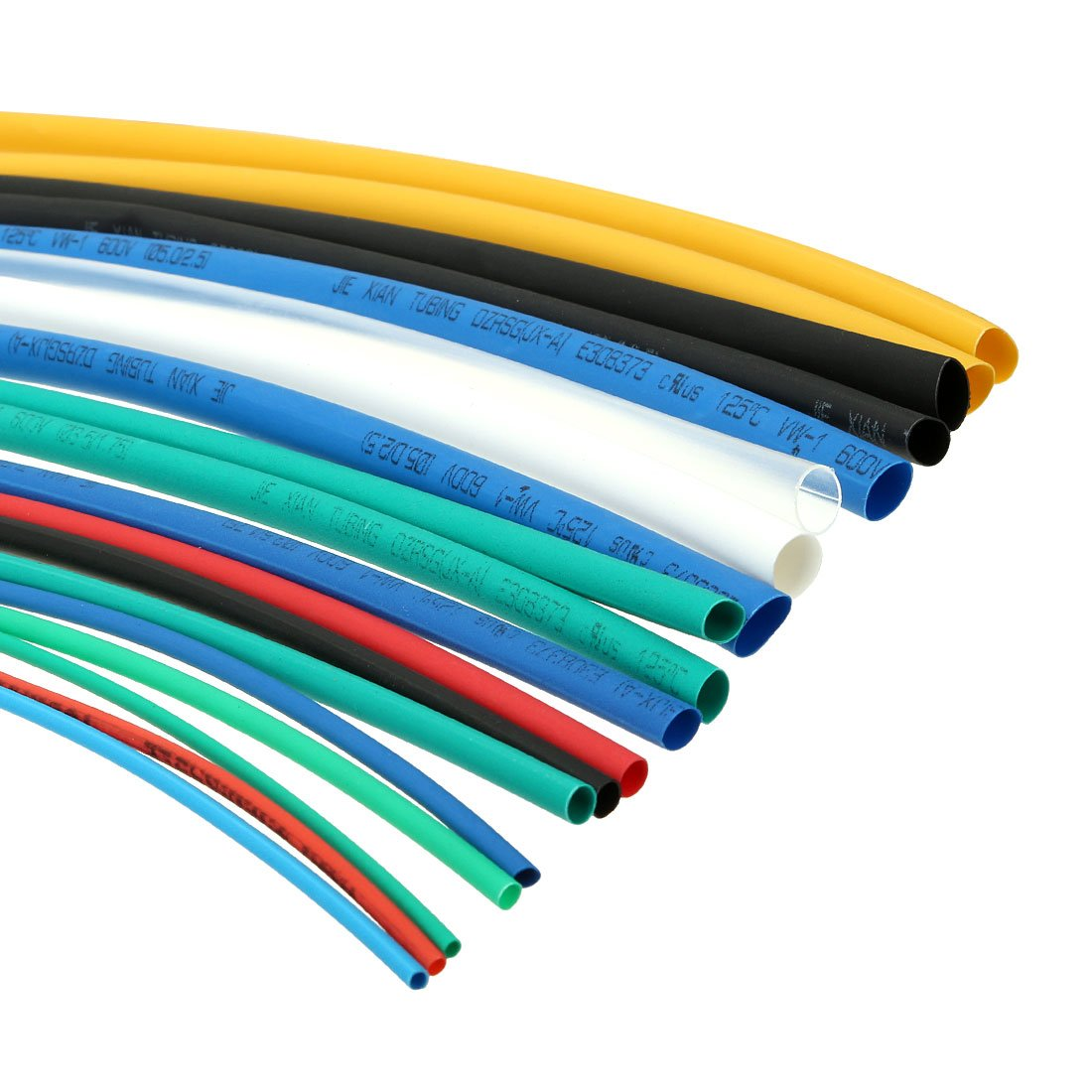 sourcingmap 70Pcs 2:1 Heat Shrink Tubing Tube Sleeving Wire Cable 7 ...