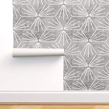 Spoonflower Peel And Stick Removable Wallpaper Texture White Tiles Lines Geo Geometric Woven Print Self Adhesive Wallpaper 12in X 24in Test Swatch