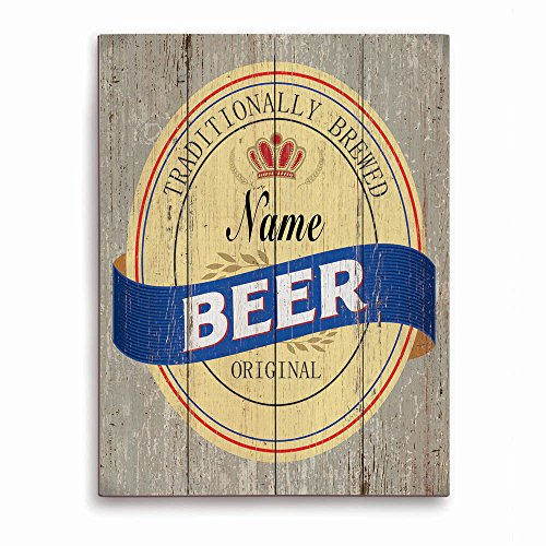 beer-bottle-can-label-bar-sign-wood-grain-blue-customizable-wall-art-print