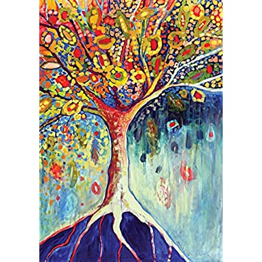 Toland - Tree Of Life - Decorative Colorful Multicolor Earth Root USA-Produced House Flag
